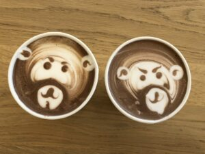 Monkey Faces in Coffee