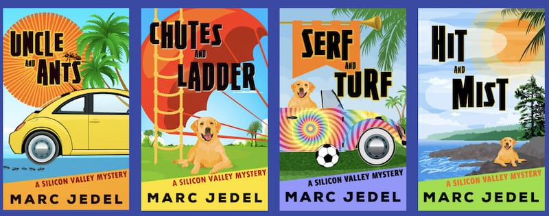 Image of 4 books in Silicon Valley Mystery Series
