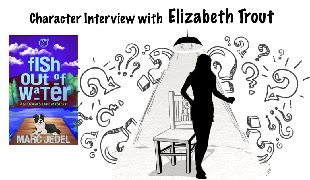 Silhouette of woman being interviewed