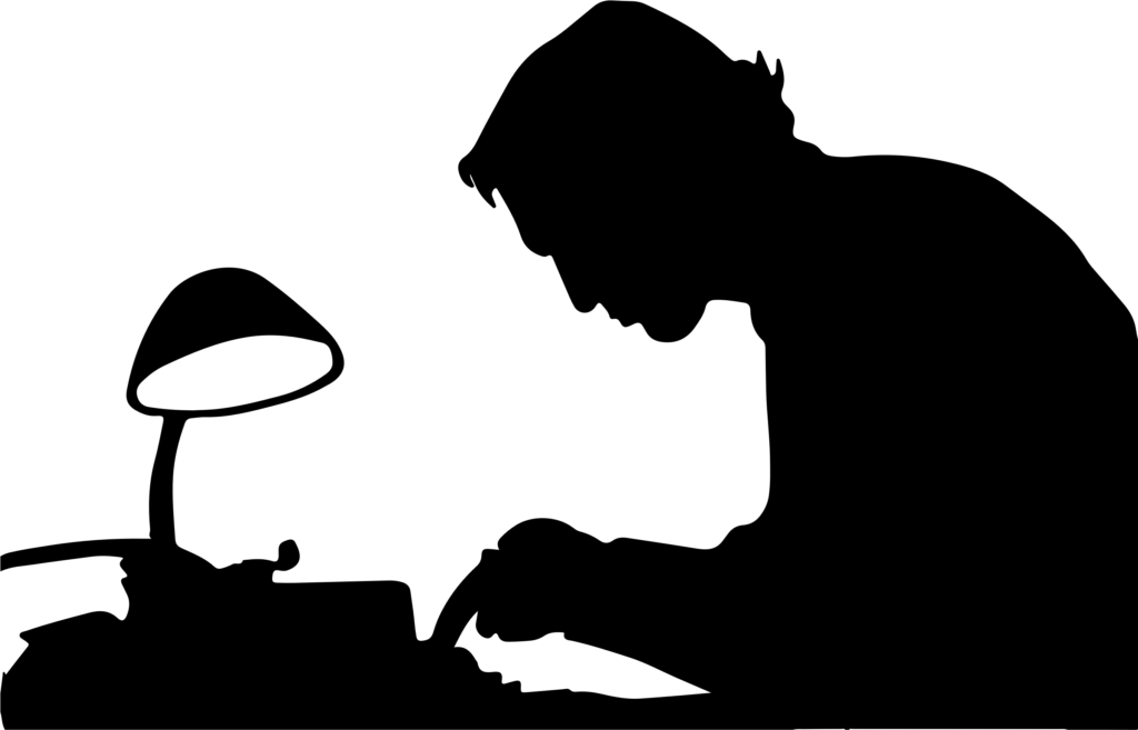 Silhouette of author