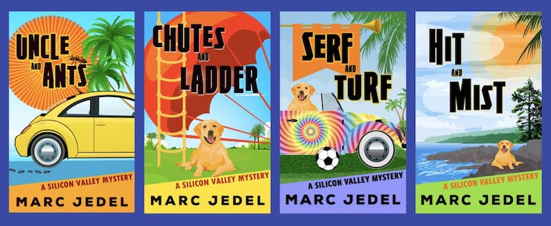 covers of 4 books of Silicon Valley Mystery series